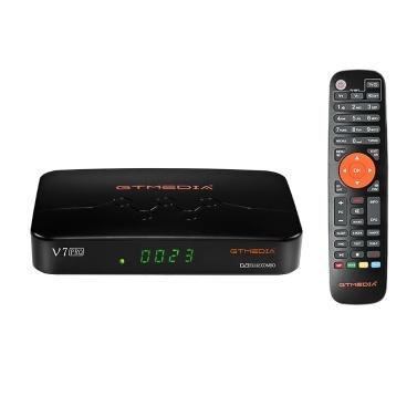 GTMEDIA V7 PRO TV Receiver DVB-S/S2/S2X+T/T2 TV Decoder Memory 1G Bit RAM Support H.265 Albertis/Tivusat/BBC Satback