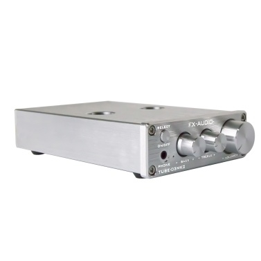 FX-AUDIO TUBE-03MKII BT Tube Preamplifier Headphone Pre Amplifier BT Receiver HiFi BT 5.0 Tube AUX Bass Treble Adjustment