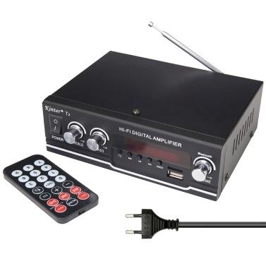 Tragbarer BT Audio-Leistungsverstärker Multifunktionaler Auto- und Heim-Dual-Use-Leistungsverstärker mit Fernbedienung