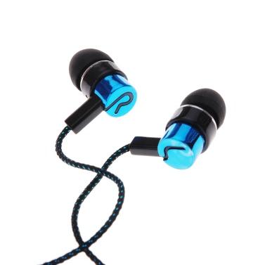1.1 M reflektierende Faser Tuch Lärm isolieren In-Ear Kopfhörer Ohrhörer Kopfhörer mit 3,5-MM-Buchse Standard Line