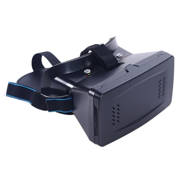 """Portable Head-Mounted Google Cardboard Version 3D VR Glasses Virtual Reality DIY 3D VR Video with Magnetic Switch Movie Game 3D Glasses with CSY-01 Mini Multifunctional Wireless BT V3.0 Selfie Camera Shutter Gamepad for iPhone Samsung / All 3.5 ~ 6.0"""" Smart Phones"""