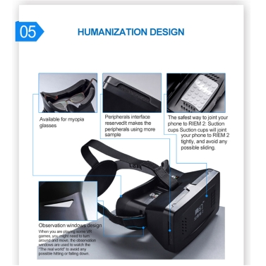 """Best-selling Private 3D VR Glasses Virtual Reality DIY 3D Video VR Glasses with Magnetic Switch Hand Belt for All 3.5 ~ 6.0"""" Smart Phones"""