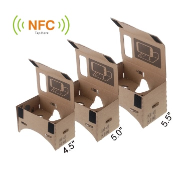 """DIY Google Cardboard Virtual reality VR Mobile Phone 3D Glasses with NFC Tag for 5.5"""" Screen"""