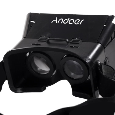 """CST-01 Universal 3D Vr Virtual Reality DIY Video Movie Game Glasses for iPhone Samsung 4-6"""" Mobile Smartphone Google Oculus Rift Head Mount with Headband"""