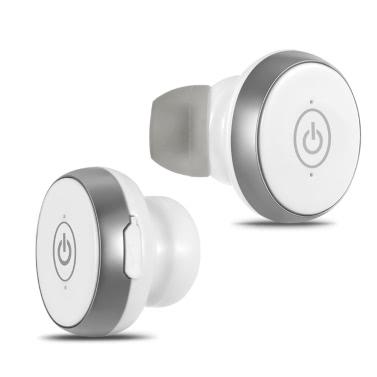 S05 True Wireless BT 4.1 Headphones Stereo In-ear Sport Headsets-White