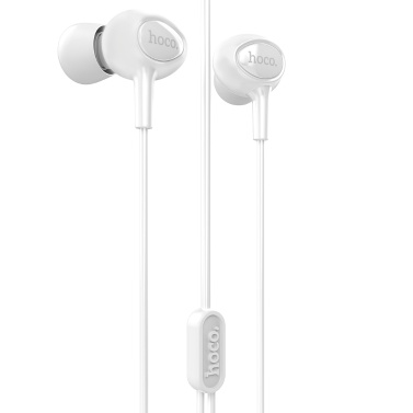hoco. M3 3.5mm Wired Headphones In-Ear Earbuds Noise Isolating Earphone Bass Stereo Music Headset In-line Control w/ Microphone