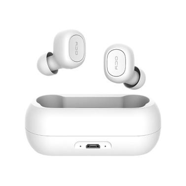 QCY T1C Bluetooth 5.0 TWS Earbuds Wahre drahtlose Kopfhörer mit In-Ear-Stereo-Ohrhörer mit zwei Mikrofonen Twins Sports Headset Charging Box