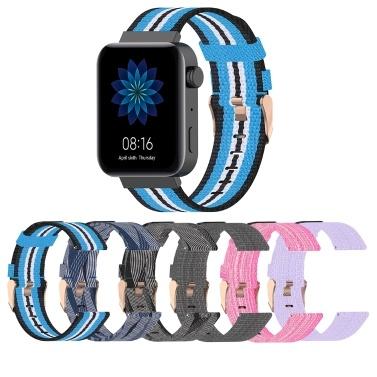 Uhrenarmband für MI Watch Unisex Canvas Nylon Wristband Wrist Strap Mehrere Farben Optional