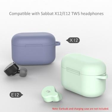 Silikon-Kopfhörertasche Kompatibel mit Sabbat X12 / E12 TWS Kopfhörer-Aufbewahrungsbox Kopfhörer-Ladetasche Abdeckung Reisetragebox
