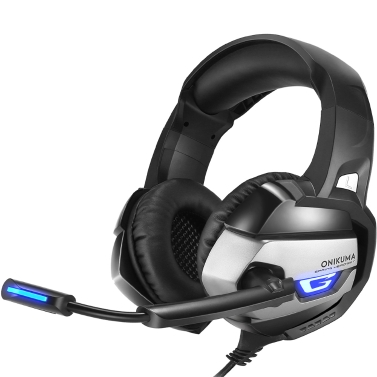 ONIKUMA Gaming Headset 3.5mm Stereo Headphones USB LED w/ Omni-directional Microphone Volume Control for PS4 XBOX One Computer Laptop