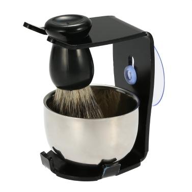 3 in 1 men 39 s shaving razor set for dry or wet shaving badger hair shaving brush shaving stand. Black Bedroom Furniture Sets. Home Design Ideas