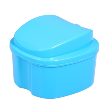 Denture Bath Box Case Dental False Teeth Storage Box Cleaning Container Rinsing Basket Retainer Appliance Holder Tray