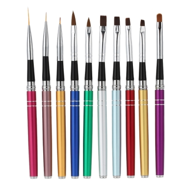 Professional 10pcs nail art design polish brush pen set for Avon nail decoration brush
