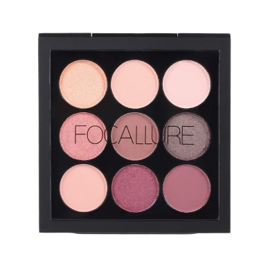FOCALLURE 9 Colors Eyeshadow Palette Matte Shimmer Eye Shadow Powder Long-lasting Eyeshadow Cream Concealer Makeup Palette