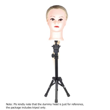 Adjustable Hairdressing Tripod False Head Holder Hairdresser  Head Stand Hair Wig Mold Clamp