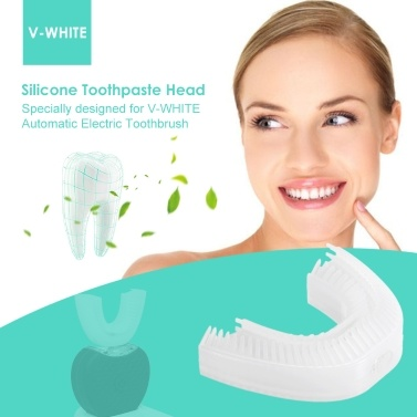 V-WHITE U-shape High Quality Silicone Head Automatic Electric Toothpaste Head