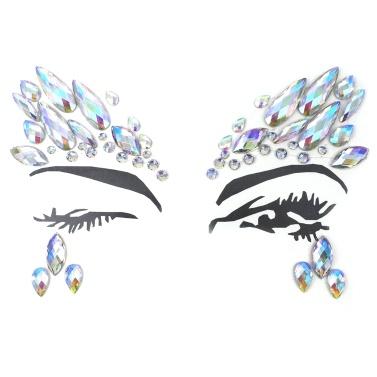 DIY Eyebrow Face Body Art Adhesive Tattoo Stickers Makeup Decorations