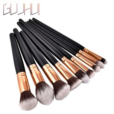 GUJHUI 10/11Pcs Makeup Brushes Set Nylon Hair Eyebrow Eyeshadow Cosmetic Brush Professional Powder Foundation Brush Make Up Tools