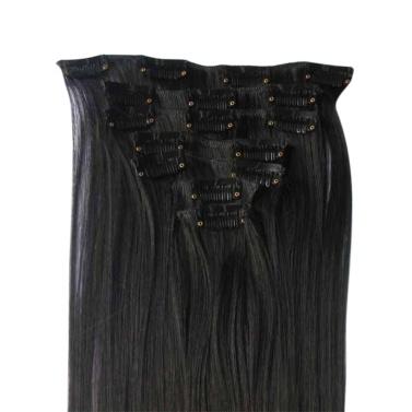 Langes gerades Haarteil für Frauen Haarteile aus synthetischer Faser