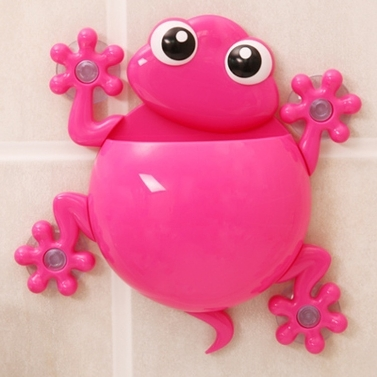 Zahnbürstenhalter aus Silikon. Saugen an Badezimmerwand, Bürstenzeit mehr Spaß für jeden in der Familie zu machen.