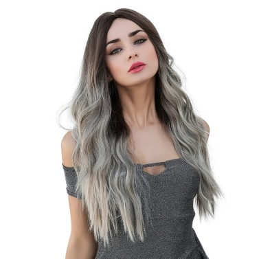 LC179-6 Natural Full Wigs Long Wavy Wig