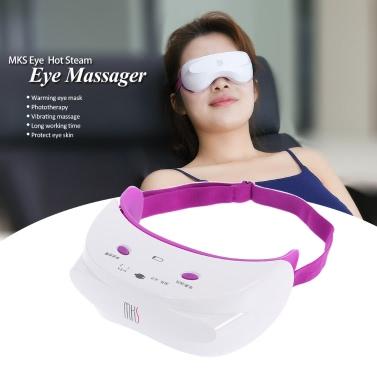 MKS Eye SPA Massager Hot Steam Eye Massager Vibrating Massage Eyes Phototherapy Beauty Eyes Instruments USB Charge