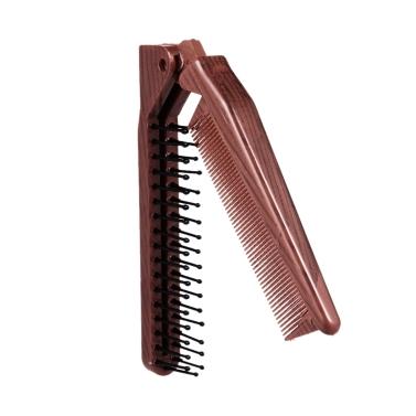 Faltbare Haar Kamm Tragbare Reise Haarbürste Haar Kamm Kunststoff Falten Detangling antistatische Haarbürste