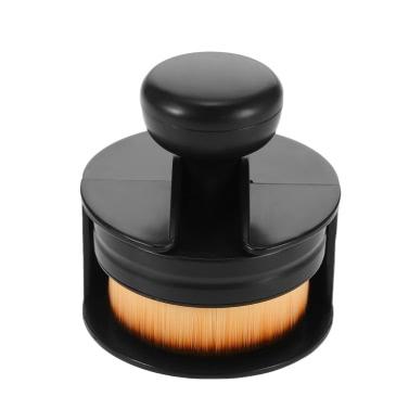 1pc Große Foundation Pinsel Flach Rund Make-up Pinsel flüssige kosmetische Blush Brush Professional Women Puderpinsel Makeup-Werkzeug-Schwarz