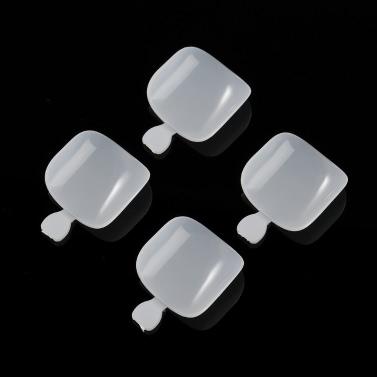 500Pcs Fake Toenail Tips Set Full Cover False Toe Nail Tips for DIY Nail Art & Manicure Salons 12 Sizes