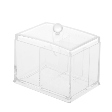 Acrylic Cotton Swabs Organizer Box Lipstick Cosmetics Storage Holder Makeup Storage Box Portable Cotton Pads Container