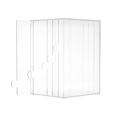 5 Grid Acryl Nail Art Tipps Display Ständer Rack Falsche Nagel Zeigen Panel staubdicht Nail Art Desktop Storage Halter Salon Maniküre Werkzeug