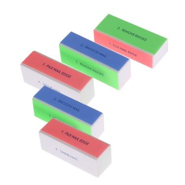 5pcs Nagel-Kunst-Akten-Nagel-Puffer-Block Polierwerkzeug Maniküre Berufsnagel Shiner Nail Salon-Werkzeug-Datei