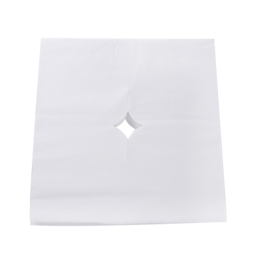 100 teile / beutel Schönheitssalon Gesicht Pad Bett Tisch Gesicht Loch Abdeckung Spa Massage Einweg Atmen Blatt Weiß