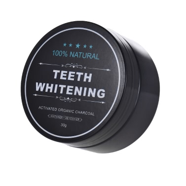 Teeth Whitening Powder Oral Activated Charcoal Teeth Stain Remover Powder Toothpaste Whitener Black