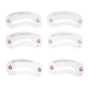 24 Stücke Augenbrauen Schablone Kit Augenbrauen Salon Stencil Set Augenbraue Gestaltung Zeichnung Vorlagen DIY Machen Werkzeuge
