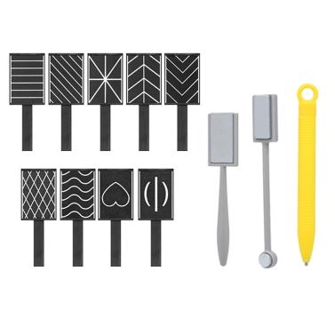 12 Stücke 3D Magnet Stick Set Magnetische Katze Eye Pen Zeichnung Vertikalen Stick Für Uvgelpoliermittel Magische Nagel Werkzeuge