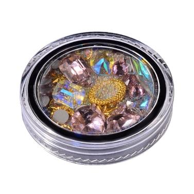 Nagel-Kunst-Diamant-Dekoration scharf in der Unterseite transparente einzelne Kristallglas-Diamant-Perlen