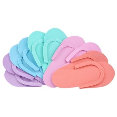 5 Pairs Disposable Slippers EVA Foam Salon Spa Slipper Disposable Pedicure Thong Slippers