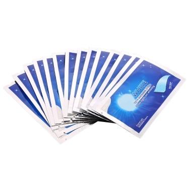 14 Stück / Karton 3D Zahnaufhellungsstreifen Zahn Zahnaufhellungsreinigung Doppelte elastische Gelstreifen Zahnaufhellungswerkzeuge