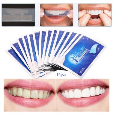 28Pcs 3D Dental Whitening Double Elastic Gel Teeth Whitening Strips