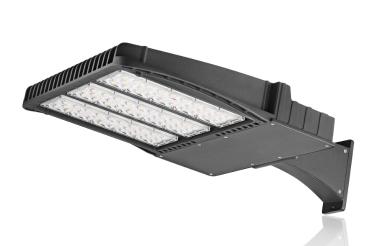 300W 33600LM Waterproof LED Shoebox Outdoor Commercial Pole Light ARM Bracket Shorting Cap