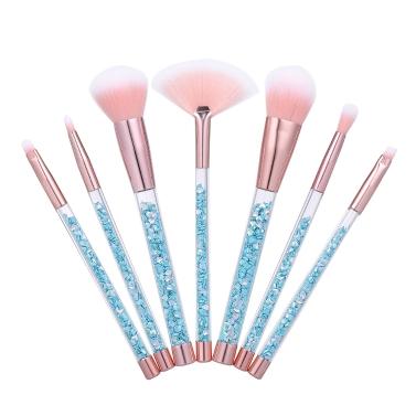7pcs/set Makeup Brushes Glitter Make Up Brush Bag Mermaid Handle Foundation Power Eyebrow