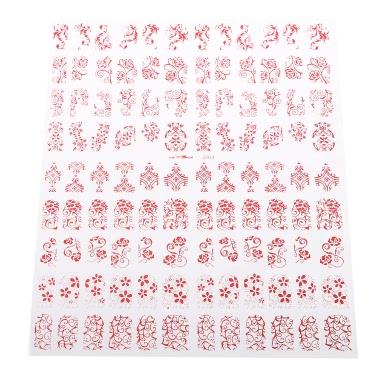 3D-Entwurfs-Nagel-Kunst-Aufkleber Blumen 7 Optionale Farben RedTip Abziehbild-Maniküre-Stamping DIY Dekoration-Werkzeug