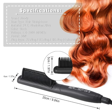 Abody Electric Hair Straightening Brush Comb