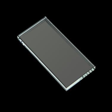 Rechteck-förmigen falsche Wimpern Extension Kristallglas Stein kleben Inhaber Paletten