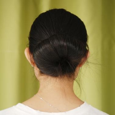 2ST schwarz Bun Maker Haarstyling Rollen Tool Velcro Strap-Haarband fixieren