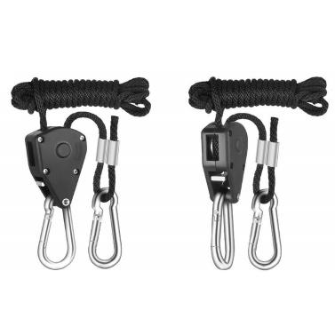 1/8 Inch Heavy Duty Adjustable Grow Light Ratchet Rope Hanger For Grow Light Fixtures Gardening Loose-proof Design