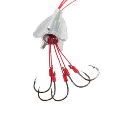 4 stücke Angeln anti-hängen 6 in 1 Kohlenstoffstahl Explosion Haken See Karpfen Angelhaken mit Gewicht 9 # 10 # 11 # 12 # 13 #