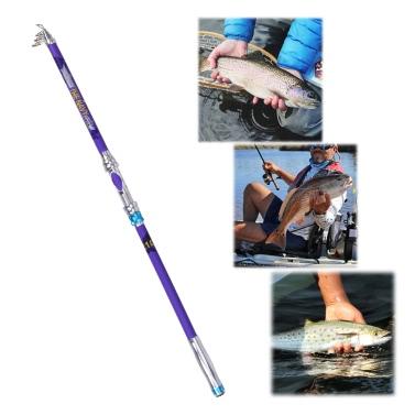 Lixada Casting Teleskopische Angeln Sea Rod Graphit Carbon Fibre Travel Portable Super Hard Angeln Pole für Boot Salzwasser und Süßwasser Fisch Angelruten Pole