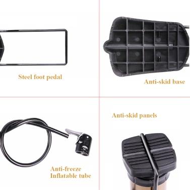 WHEEL UP High Pressure Bicycle Pump 160 Psi MTB Bike Air Inflator Portable Pump With Pressure Gauge Ultra-light Bike Pump
